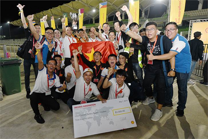 Team LH - EST, race number 701, from Lac Hong University, Vietnam, winners of the UrbanConcept - Battery Electric category during Day 3.