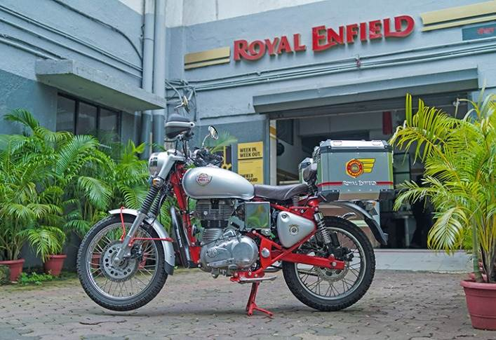 Doorstep service in a time of social distancing: Service on Wheels is a fleet of mobile service-ready motorcycles from Royal Enfield.