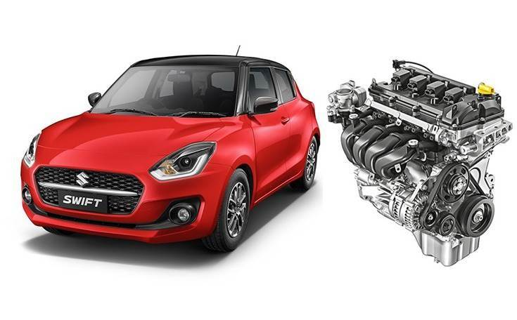 Has the go to match the show. New Swift's DualJet engine gets 8.4% bump up in power to 90bhp and also better fuel economy, up by 2kpl to 23.2kpl for the 5-speed MT and 23.76kpl for the 5-speed AMT.