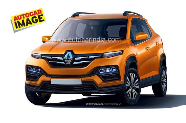 Renault is lining up its next big launch for India – the Kiger compact SUV – sometime around October 2020. (Computer-generated image by Autocar India).