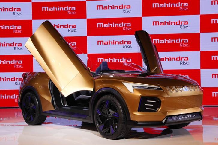 The hardtop Funster convertible eSUV concept packs a 59.2kWh battery pack that develops 313hp; Mahindra claims a 0-100kph time of under 5sec, a range of 520km and top speed of 200kph.