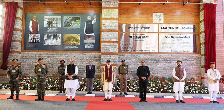 The decision to construct a strategic tunnel below the Rohtang Pass was taken on June 3, 2000 when the late Atal Bihari Vajpayee was the Prime Minister. The foundation stone for the access road to the South Portal of the tunnel was laid on May 26, 2002.