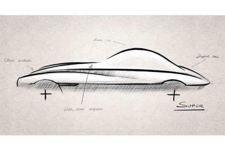 Design sketches mix traditional Morgan cues with a new look