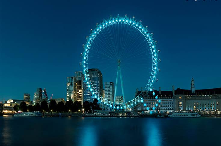 Hyundai has celebrated the launch of Ioniq by turning the London Eye into a giant letter