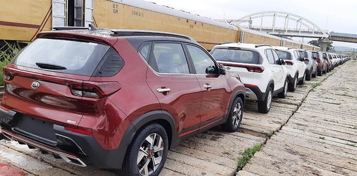 With an order book of over 35,000 units and to be ready for deliveries in the upcoming festive season, Kia is transporting the recently launched Sonet compact SUV to its dealers across India using the rail route.