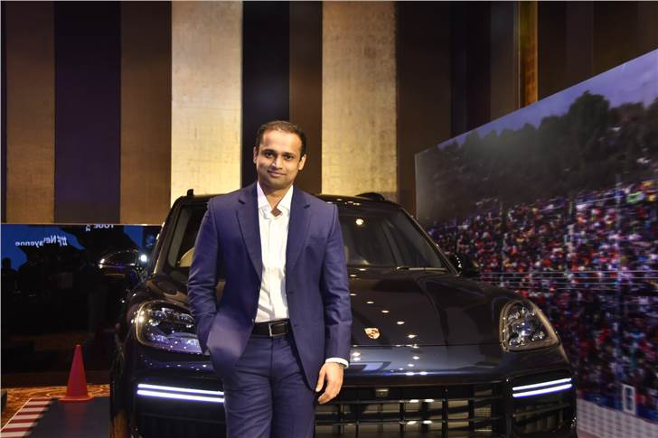 Pavan Shetty, Director, Porsche India at the launch of the third generation Cayenne in Mumbai.