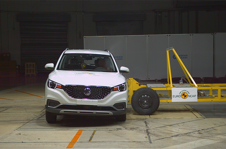 Side crash test 2019