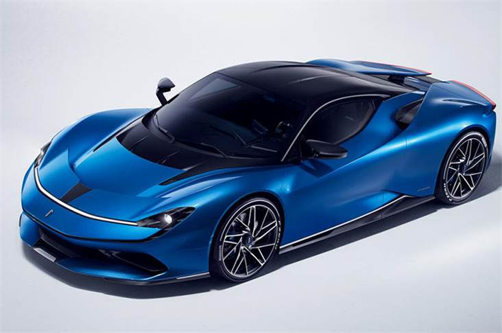 The Pininfarina Battista uses an electric motor to power each wheel, making a combined 1900bhp.