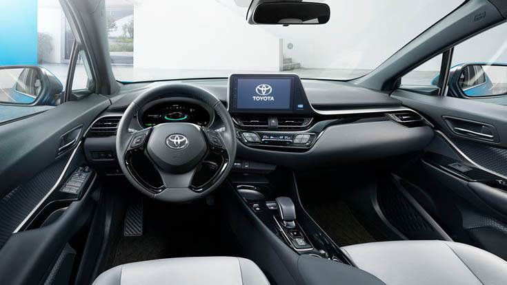 The C-HR interior.