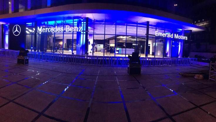 The new outlets of Mercedes-Benz India in Surat.