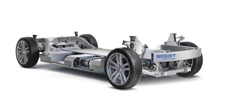 The Benteler Electric Drive System is a weight-optimised, modular system solution, specially designed for e-mobility.