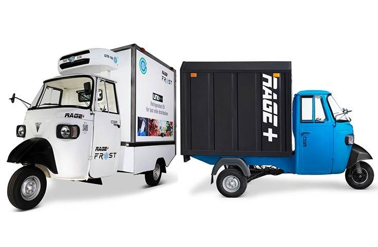 Valeo's 48V electric powertrain system (reducer, integrated motor and Inverter) along with the Powertrain Control Unit will power Omega Seiki's cargo three-wheelers 'Rage+ and Rage+ Frost'.