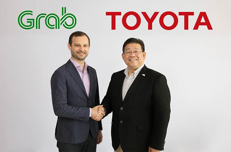 L-R: Russell Cohen, head of regional operations, Grab Holdings and Susumu Matsuda, president, Toyota Motor Asia Pacific