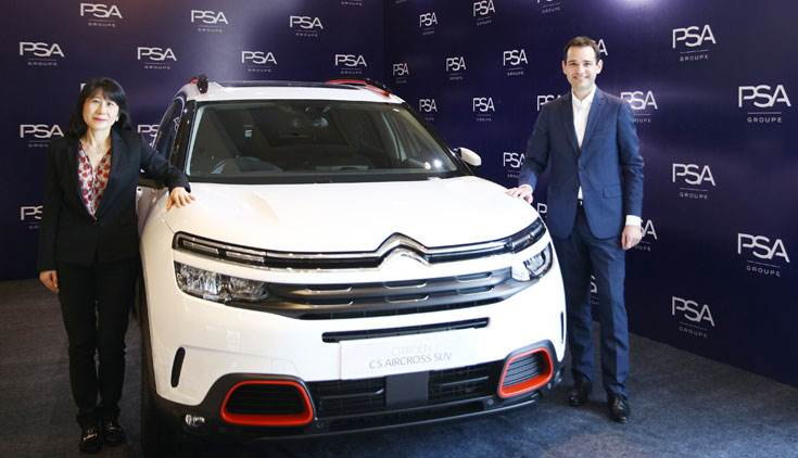 L-R: Ms Michelle Wen, EVP, Global Purchasing and Supplier Quality, Groupe PSA and Guillaume Ruffino, Vehicle Program Purchasing vice-president at Groupe PSA.