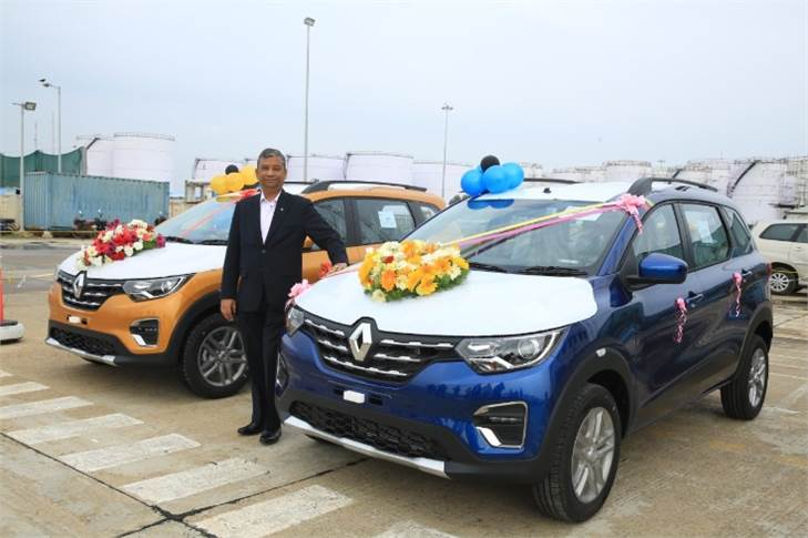 Venkatram Mamillapalle, Country CEO & Managing Director, Renault India with the tRiber