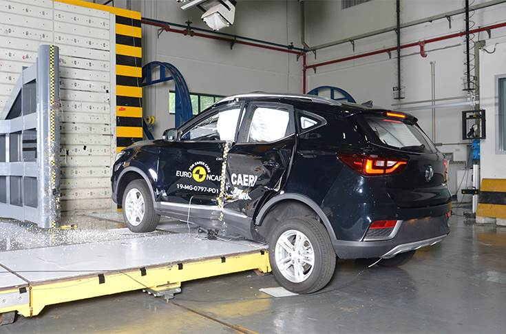 Pole crash test 2019 - after crash