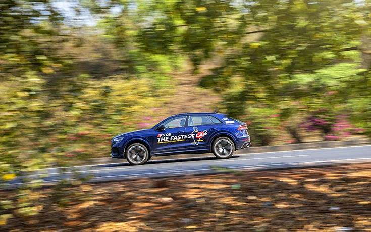 The Audi RS Q8's lap times at the MMRT (1:52.911), Kari Motor Speedway (1:13.691) and BIC (2:16.767) have been ratified by the Federation of Motor Sports Clubs of India and The India Book of Records.