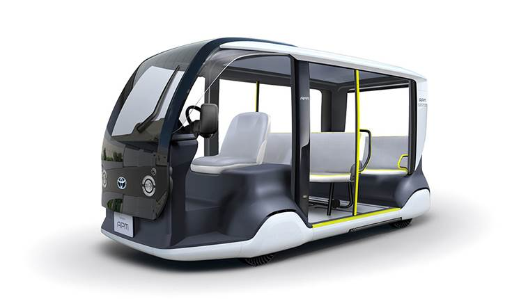 Toyota Accessible People Mover is a low-speed, short-distance, battery EV with seating for 6 people.