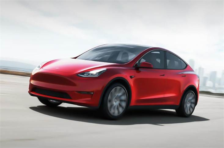 Tesla Model Y. The EV maker has posted a fourth consecutive quarterly profit for the first time.