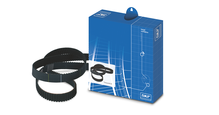 SKF timing belts for four-wheelers.