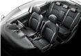 Attrage interior gets a monotone design with synthetic leather.