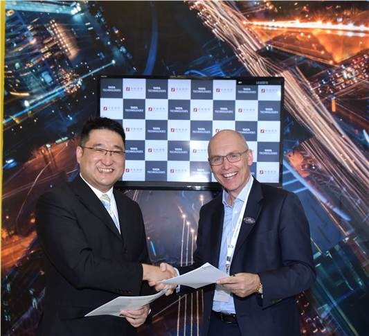 L-R: John Wang, founder and chairman, FutureMove Automotive with Warren Harris, CEO and managing director, Tata Technologies.