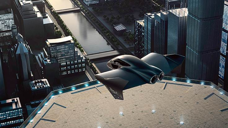Boeing, Porsche and Aurora Flight Sciences, a subsidiary of Boeing, are developing a concept for a fully electric vertical takeoff and landing vehicle.