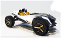 Hyundai Kite is a two-seater dune buggy concept vehicle that converts into a single-seater jet ski.