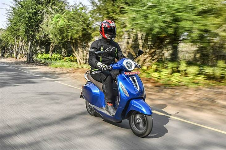 Bajaj Auto says the Chetak is capable of a real-world range of 85km in Sport Mode and 95km in Eco Mode.
