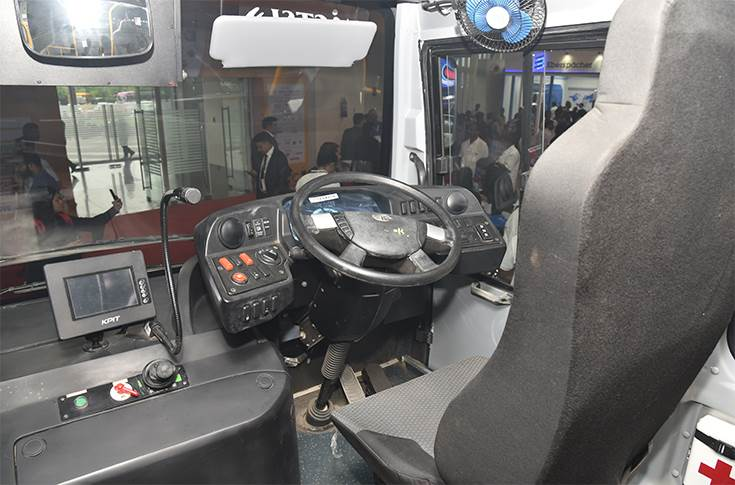 Tata Ultra Electric driver