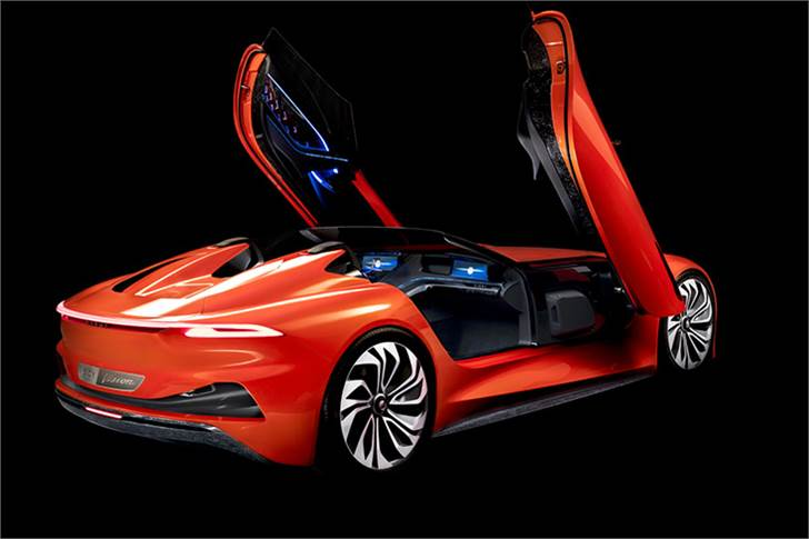 Pininfarina-designed Karma SC1 Vision Concept unveiled at Shanghai is designed to showcase the firm's future ambitions for a full-electric model..