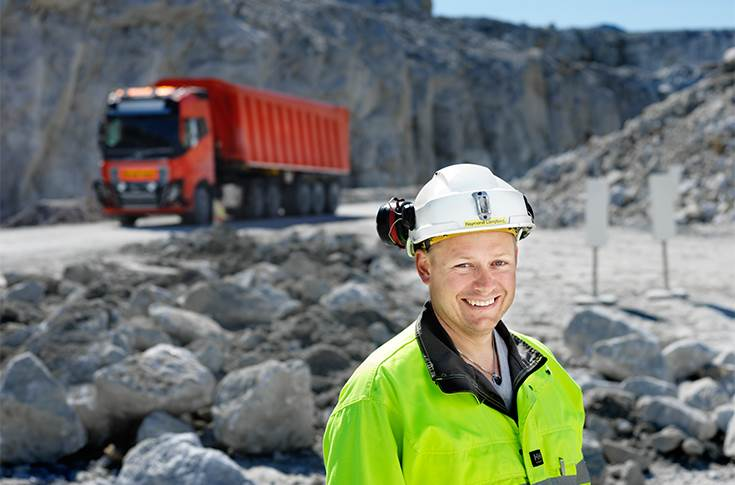"""Raymond Langfjord, Managing Director of the Brønnøy Kalk mine, sees new opportunities in technology. """"Going autonomous will greatly increase our competitiveness in a tough global market."""""""