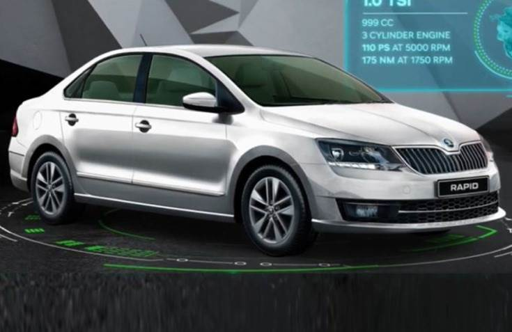 Prices for the 2020 Skoda Rapid 1.0 TSI start at Rs 749,000.
