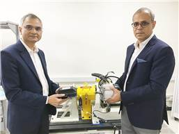 L-R: Dr Naveen Gautam, Managing Director, Hella eMobionics and Manish Motwani, founder and CEO, Kinetic Electric Motor Company.