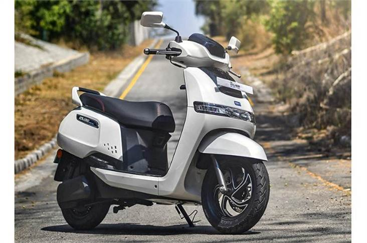 Powering the iQube is a 4.4kW electric motor that propels the scooter to a claimed top speed of 78kph.