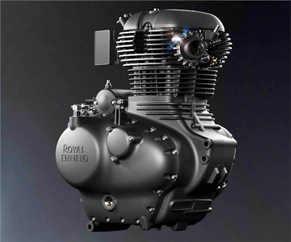Newly developed, 349cc, fuel-injected, single-cylinder engine develops 20.2hp at 6100rpm and 27 Nm torque at 4000rpm.