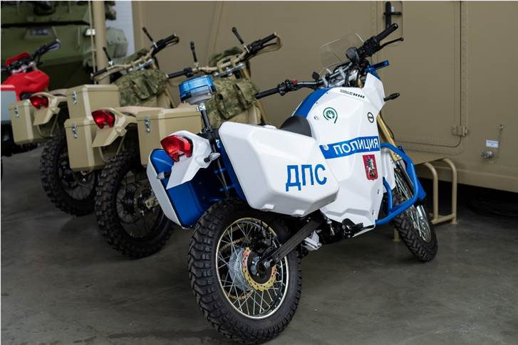The electric bike showcased at the international military-technical forum