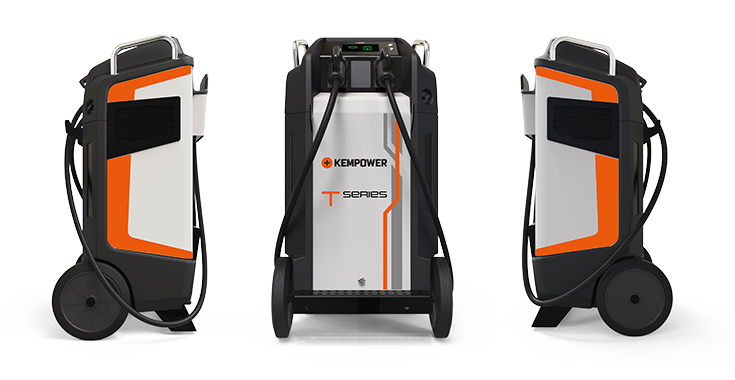 The Kempower T-series is a movable EV charger that is suitable for electric cars, commercial electric vehicles, electric trucks, lorries, vans, buses and off-highway vehicles. It is weatherproof and suitable for both outdoor and indoor use.