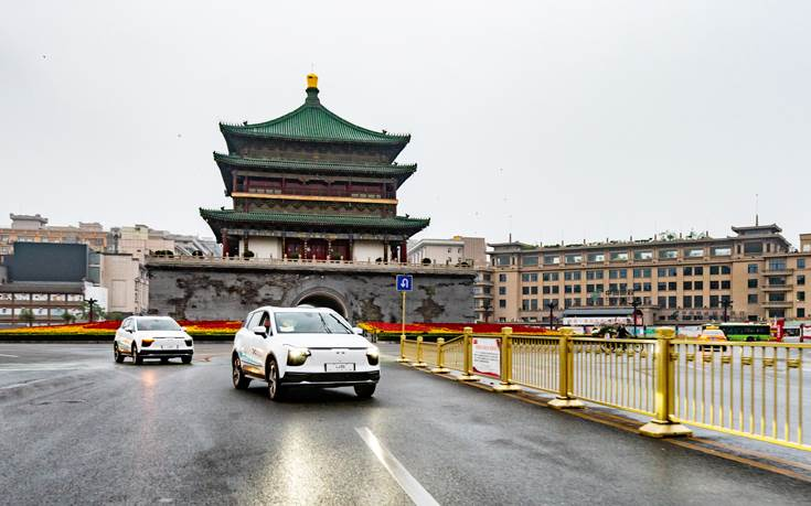 A pair of prototype Aiways U5 battery-electric SUVs departed yesterday from Xi'an in China, and are now being driven 14,231km (8,843 miles) to Frankfurt, Germany.