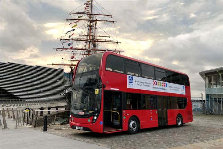 The prototype of the new fuel cell bus from ADL is based on the Enviro400 model and performed impressively in field testing with higher efficiency.