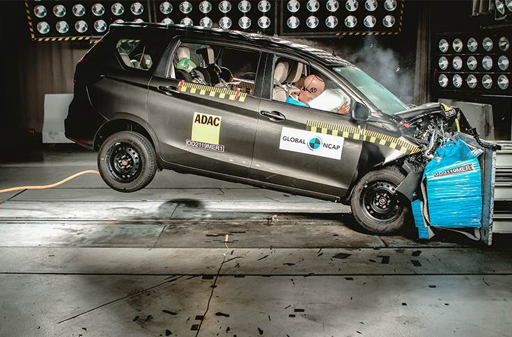 Maruti Suzuki Ertiga gets two stars for safety from GNCAP