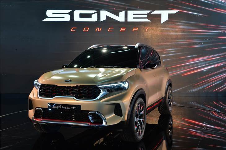 Kia has aggressive plans for its third product in India – the Sonet compact SUV. It has outlined a sales target of 70,000 units in the first year.