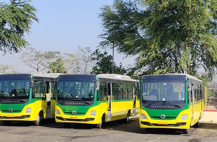 DICV has introduced a range of 'BSafe' features for its BharatBenz bus fleet to help ensure safe public transport. These include hands-free doors, sanitisers and temperature sensors.