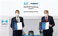 L-R: Hannes Prenn, Executive VP and CEO of Marelli's Electric Powertrain business, and Guido Dumarey, founder and CEO, PUNCH.