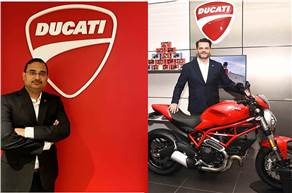 L-R: Bipul Chandra appointed as the new managing director of Ducati India, outgoing MD, Sergi Canovas moves to an international role.