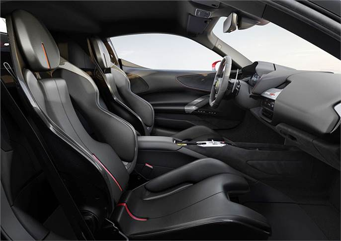 As with the rest of the car, the SF90 Stradale's interior is totally new. Even entering it is a different process, with a new keyless entry system.