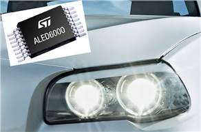 Suitable for both exterior and interior lighting, the ALED6000 drives a single string of LEDs at up to 3A and has a wide input-voltage range of 4.5V to 61V.