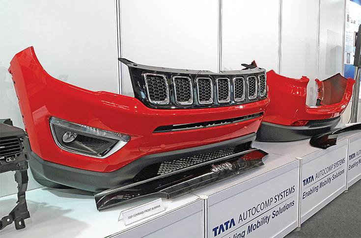 Front and rear fascia of the Jeep Compass has been designed and developed by Tata AutoComp.