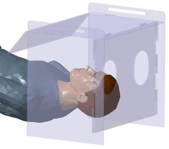 Intubation aspiration / aerosol box is made from the plastic polycarbonate windshields which are used in Mahindra vehicles.