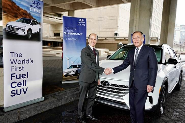 Euisun Chung, executive vice-chairman of Hyundai Motor Group and Under Secretary of Energy Mark W Menezes announced the expansion of the partnership between Hyundai and the U.S. Department of Energy.